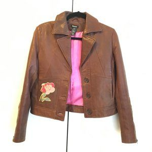 Gbrand by GUESS boho genuine leather jacket S